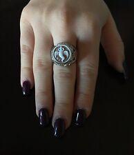 Anello in argento 925  cammeo corno sardonico ring cameo Made in Italy
