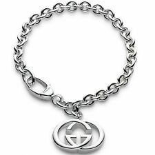 GUCCI Silver Britt collection bracelet 18cm