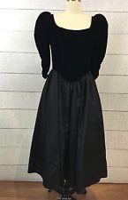 Vtg 80s Gunne Sax Jessica McClintock Velvet Victorian Prom Party Dress Size 8 9