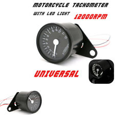 1 Pcs 65mm Black Motorcycle Speedometer Gauge Internal Night Light White Digital