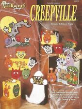 Creepville Halloween Fun Cute Plastic Canvas Patterns Coaster Set TNS Booklet