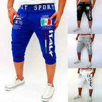 Men's Gym Jogging Shorts Pants 3/4 Trousers Track Summer Half Sweatpants Sport