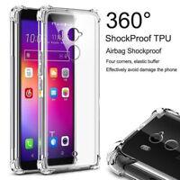 For HTC 10 Pro /U U11/Pixel XL/X10 Clear Shockproof 360° Slim TPU Cover Case