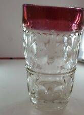 Red thumbprint glassware