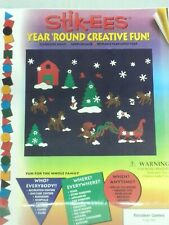 Christmas Decoration Clings Reindeer Games Vinyl Window Cling Reusable NEW