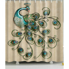 1 Pc Waterproof Peacock-Spreading-Tail Shower Curtain for Home and Bathroom