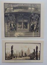 Karel Vik 4+1 wood engravings of Prague 1926-1928 from the book 1928