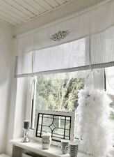 RAFFROLLO Gardine Shabby GESTREIFT grau o. beige/weiß 80/90/110/130/140x100 cm