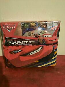 NEW Disney Pixar Cars 3-Piece Twin Sheet Bedding Set Mcqueen