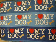 "BNWOT  Blue ""I ❤ My Dog""  Medium Dog Pet Bed/Mattress/Pillow"