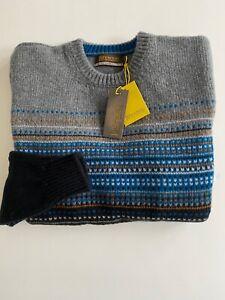 Gents Lambswool Sweater Fairisle made in Scotland