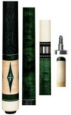 Pechauer JP04-N Green Stain Cue - 12.5mm Shaft - FREE 1x1 Case, Extras & SHIP