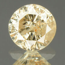 0.23 cts. CERTIFIED Round Sparkly Light Brown Color Loose Natural Diamond 22742