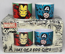 Marvel AVENGERS SET of 2 EGG CUPS Iron Man Captain America GIFT PACK