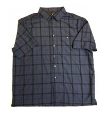 George Mens Short Sleeve Microfiber Pocket Button-Up Dress Shirt 3XL Burgundy St
