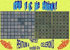 1€ ★ INTEL PENTIUM4 / CELERON D ☆ Sockel 478 ☆ AUSWÄHLEN ★ TOP ★ mit Rechnung ★