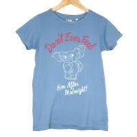 Uniqlo Gremlins 'Don't Feed After Midnight' Graphic Womens T-Shirt Size M Blue