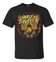 Harley-Davidson Men's Eagle Lightning Short Sleeve Crew Neck T-Shirt - Black