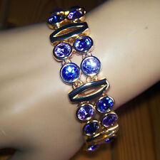 Digby bijoux TANZANITE cristallo e Bracciale Placcato Oro