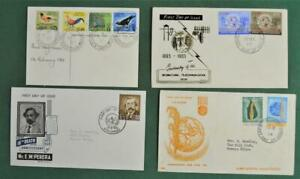 SRI LANKA CEYLON STAMP COVERS SELECTION OF 4  MOST FDC`S (G188)