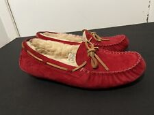 UGG Moccasins size 8 red ~ excellent condition