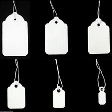 NEW WHITE STRUNG PRICE LABELS TIE ON TAGS Ideal for Jewellery,Gifts,watches,Ring