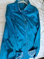 Hawes & Curtis women shirt - Blue - fitted - UK size 18
