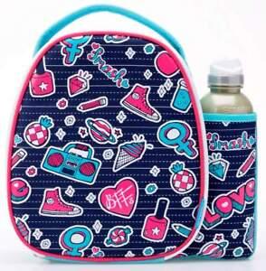 Smash Grrl Lunch Bag/Box and 500ml Bottle Set   Lunchbox for Girls