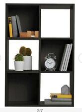6 cube storage unit Black