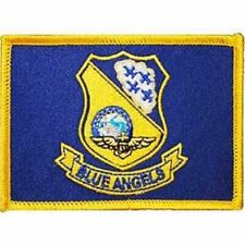 """USN, BLUE ANGELS FLAG - Embroidered Patches, Sew On Iron On Patch - 2.5"""" x 3.5"""""""