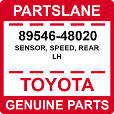 89546-48020 Toyota OEM Genuine SENSOR, SPEED, REAR LH