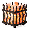 Crystal Allies Natural Himalayan Metal Cube Basket Salt Lamp with Dimmable Cord