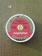 Vintage Dag Nobel Co Breech Cap Tin Dynamit Actien Gesellschaft Hunting Rifle