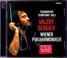 Valery GERGIEV Signiert TCHAIKOVSKY Symphony No.5 Wiener Philharmoniler CD Live