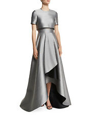 Jason Wu Popover Bodice Two Tone Evening Gown Size 8 $3795