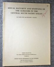 1962 SEXUAL MATURITY SPAWNING ALBACORE Tuna SOUTH PACIFIC Ocean OTSU Fish HANSEN