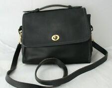 Coach Women's Vintage Black Leather Shoulder Bag #D5C-9870 Handbag