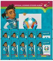 Panini - EURO 2020 Sticker Preview - Sammelsticker - Leeralbum +10 Sticker