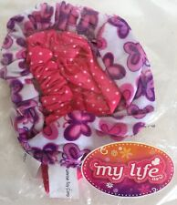 "18"" Doll Fabric Headbands Pink Polka Dots/Purple My Life As Girl Hair Accessory"
