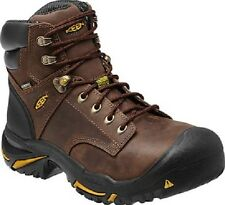 """New Keen Mens Brown Leather Mt Vernon 8"""" Steel Toe Work Safety Boots Size 12"""