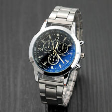 Luxury Fashion Mens Watch Stainless Steel Sport Quartz Hour Analog Wrist Watches