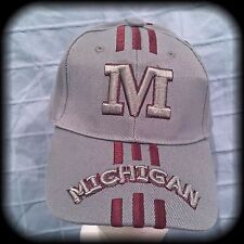 U of M Ball Cap, Grey, OSFA, Michigan University NWT 80/20 Wool/Acrylic gray Hat
