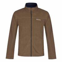 Fleece Regatta Fairview Mens Thin Lightweight Full Zip Thermal Jacket Dark Camel