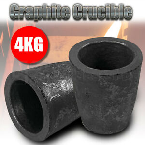 4KG Graphite Crucible Furnace Casting Gold Silver Copper Melting Tool Smelting