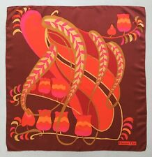 VTG 1960s 1970s CHRISTIAN DIOR 100% SILK SCARF ABSTRACT FLOWERS FLORAL NEAR MINT