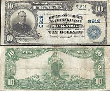 $10 1902-ND=BROAD AND MARKET BANK=NEWARK (NJ)=VERY FINE= SCARCE FIRST TITLE= NBN