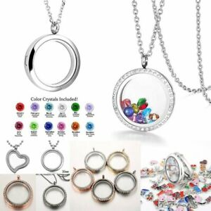 Fashion Living Memory Floating Family Charm Locket Pendant Necklace Jewelry Gift