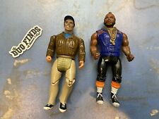 Vintage 1983 Cannell A-Team B.A. Baracus and Murdock Action Figure Lot Loose