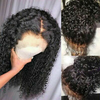 Peruvian Virgin Human Hair Wig Deep Wave Curly 360 Lace Front Wig with Baby Hair