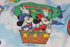 Walt Disney Air Mobile Mickey Minnie Goofy Pluto Twin Fitted Sheet Fabric